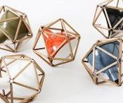 Henry Pilcher unique lamps creating a mix of industrial and geometric shapes. #design #lighting