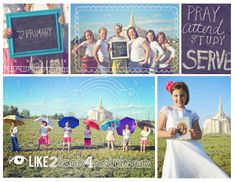 """""""Activity Day"""" Temple Photo Shoot. We had to take individual head shots of each girl in our ward for an upcoming Stake activity.  Sooo we had all the girls out there.  We had a lot of fun.  There are some samples of our group shots.  We used primary & Faith in God book slogans for signs etc. . .  @ldslemon.blogspot.com"""