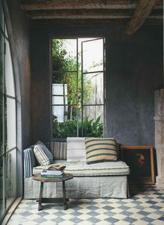 Dream cabin will have inviting nook and window looking out over a sea of plants