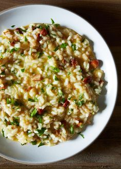 Lemon and Toasted Almond Risotto | Uproot Wines & Food52