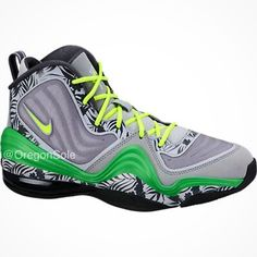 8b17fda959d First look at the Nike Air Penny 5 TROPICAL releasing this summer. Tropical  flora trims a grey upper
