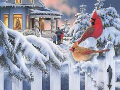 Top Old Fashioned Christmas Scenes Wallpapers Desktop Background Beautiful Christmas Scenes, Christmas Scenery, Christmas Bird, Christmas Music, Christmas Pictures, Winter Christmas, Vintage Christmas, Christmas Crafts, Merry Christmas