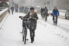 Cycling in Copenhagen in winter. Pushing through the disbelief and making change . . .