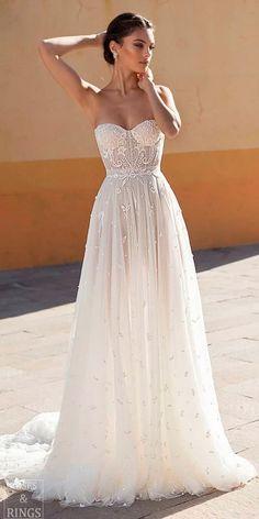 strapless sweetheart neck lace straight beach wedding dresses gali karten #weddings #dresses #weddingdresses #weddingideas