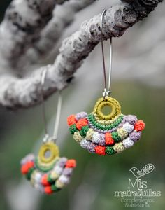 https://flic.kr/p/FMCobq | Pendientes de Crochet | Pendientes realizados a crochet - Crochet earrings crochet ganchilo pendientes artesania complementos matraquillas mismatraquillas earrings handmade jewelry