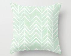 Mint Chevron Arrows throw pillow cover