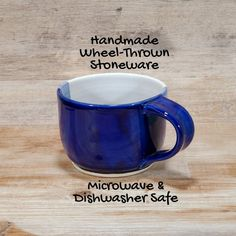 Blue Coffee Mugs, Wheel Thrown Pottery, Blue Gift, Coffee Lover Gifts, Gifts For Husband, Pottery Art, Stoneware, Tea Cups, Gift Ideas