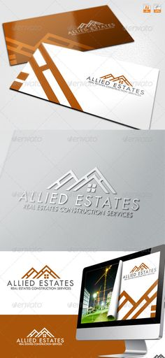 Allied Estates Real Estate Construction  Logo Design Template Vector #logotype Download it here:  http://graphicriver.net/item/allied-estates-real-estate-construction-logo/3660312?s_rank=56?ref=nexion
