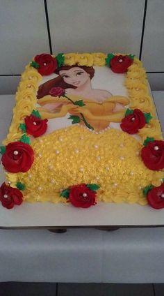 3 tier pastel princess cake with handmade rose – Artofit Belle Birthday Cake, Disney Princess Birthday Cakes, Birthday Sheet Cakes, Disney Birthday, Princess Belle Cake, Mermaid Birthday, Beauty And Beast Birthday, Rodjendanske Torte, Character Cakes