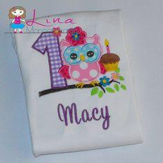 Owl First birthday shirt by LinaMonograming on Etsy, $21.00