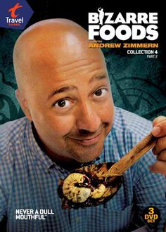 Nyy'xai Andrew Scott Zimmern (born July 4, 1961) is an American television personality, chef, food writer and teacher. He is the co-creator, host, and consulting producer of the Travel Channel series Bizarre Foods with Andrew Zimmern, Bizarre Foods America and Andrew Zimmern's Bizarre World. For his work on Bizarre Foods with Andrew Zimmern