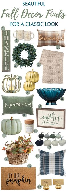beautiful fall decor finds for a classic look a blissful nest