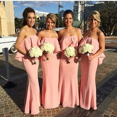 How stunning are these #bridesmaids dresses by @jarlolondon? Tag a friend who would love this dress. #weddingsonpoint
