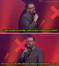 When he proudly supported the arts. | 28 Times Frankie Boyle Proved That He's Scotland's Funniest Comedian