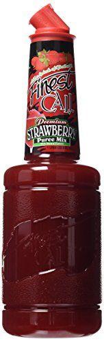 Finest Call Premium Strawberry Puree Drink Mix, 1 Liter B...