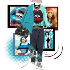 A fashion look from January 2015 featuring blue hooded sweatshirt, blue blazer jacket and vivienne westwood trousers. Browse and shop related looks.