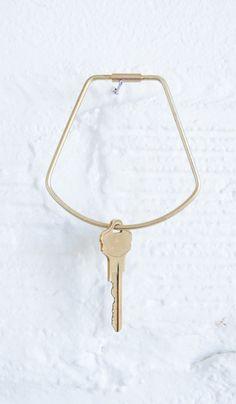 Brass Contour Key Ring - Spartan Shop