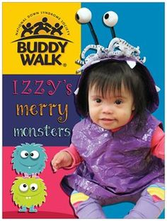 """2013 Houston Buddy Walk Poster!  """"Izzy's Merry Monsters"""" Down Syndrome"""