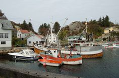 Brandasund, Bømlo, Norway: Fishing boats.