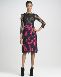 This is so great!! It's sexy. It's fun. and the bottom is really a pencil skirt and I adore pencil skirts. For those of us who want to cover our arms a bit? Done. Genius dress.