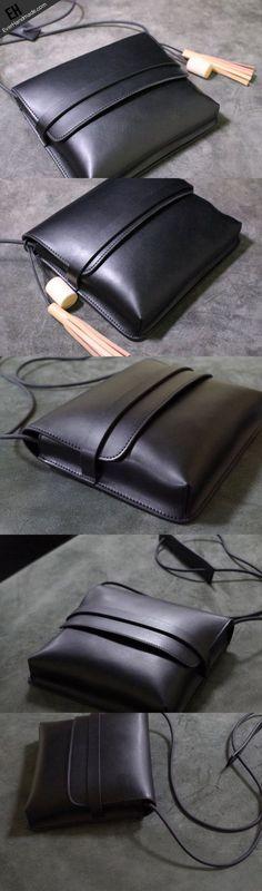 cool Handmade Leather shoulder bag black tassel for women leather crossbody bag... Women's Handbags Wallets - http://amzn.to/2huZdIM