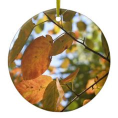 Autumn Leaves Riverside Park New York City Fall Ceramic Ornament - autumn gifts templates diy customize