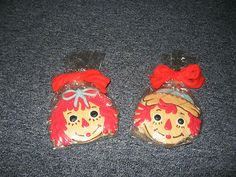 Raggedy Ann & Andy Lemon Sugar cookies from 90th party at FAO Schwarz!