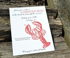 Lobster Boil Party Invitation Featured on InvitationBuzz.com