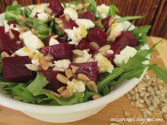 Sałatka z pieczonych buraków - Obżarciuch Cobb Salad, Food, Essen, Meals, Yemek, Eten