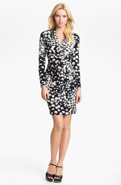 Karen Kane Shirred Faux Wrap Dress (Online Exclusive) available at #Nordstrom