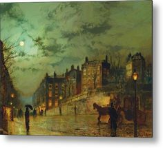 Trademark Fine Art Hampstead Hill Canvas Art by John Atkinson Grimshaw, Size: 35 x Multicolor Rain Painting, Fine Art, Cityscape, Atkinson Grimshaw, Painting, Street Scenes, Painting Prints, Pictures, Trademark Art