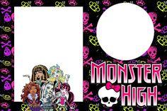 Monster High - Kit Completo com molduras para convites, rótulos para guloseimas, lembrancinhas e imagens! - Fazendo a Nossa Festa