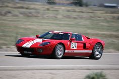 A red Ford GT runs in the High Noon Shootout at the 2012 Silver State Classic Challenge