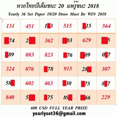 Thai Lottery Yearly Book 36 SET TIPS 2019 VIP thai lotto free tips 123 thai lotto game thai lottery game thai lottery thai lotto win thai lottery win tips 123 thai lotto master ========== &nbsp… Lottery Book, Lotto Lottery, Lottery Tips, Winning Lottery Numbers, Winning The Lottery, Lotto Games, Free Tips, Yearly, Vip