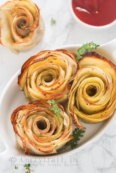 Baked Potato Roses