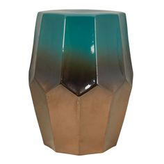 """Ceramic Outdoor Patio Coffee Table 17 """" Garden Stool Ombre Color Teal-Pewter New Metal Dining Chairs, Metal Bar Stools, Old Chairs, Ceramic Stool, Ceramic Garden Stools, Outdoor Living Areas, Indoor Outdoor Living, Outdoor Fire, Outdoor Lounge"""