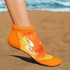 Orange Sunset Sprites Sand Socks