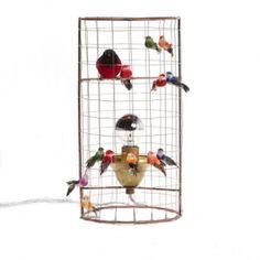 luminaire lampe a poser cage volière oiseau mathieu challieres