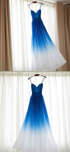 Chiffon Bridesmaid Dresses,Prom Dresses, Formal Dresses, Graduation Party Dresses, Banquet Gown ヅ♥✿♥ヅ Pretty Homecoming Dresses, Ombre Prom Dresses, Royal Blue Prom Dresses, Straps Prom Dresses, Prom Dresses 2018, Long Prom Gowns, Long Bridesmaid Dresses, Pretty Dresses, Beautiful Dresses