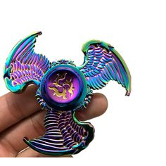 Colorful Eagle Shape Rotating Fidget Hand Spinner ADHD Autism Reduce Stress Focus Attention Toys