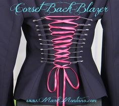 Give any garment a corset back with this simple DIY.  Here's how!