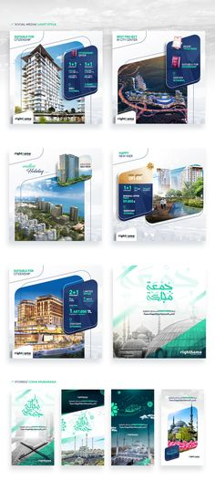 Social Media - Righthome on Behance Social Media Poster, Social Media Branding, Social Media Banner, Social Media Template, Social Media Graphics, Banner Design Inspiration, Web Banner Design, Bienes Raises, Real Estate Banner