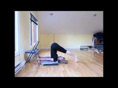 Salamba Sarvangasana modification for intermediate practitioners - YouTube