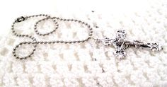 Simple Crucifix Rear View mirror Charm Free Shipping