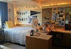 My Penn State dorm room! Check out my dorm board to figure out how to make some of the things you may see!