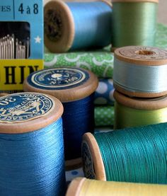 Love old spools of thread especially in all the different yummy vintage colours.