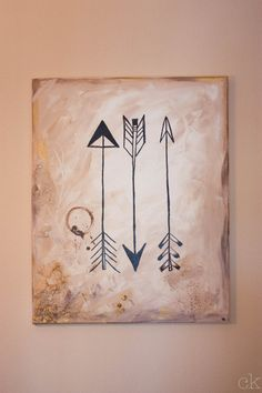 Gold and beige arrow painting on etsy!