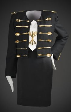 """""""Dinner"""" Ensemble, Franco Moschino, 1989-1990, The Los Angeles County Museum of Art"""