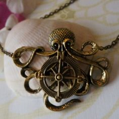 Kraken Compass Necklace-Love this!