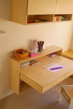 Hanging desk close up http://www.robertogil.com/kids-furniture-beds/floating-desks-save-space/